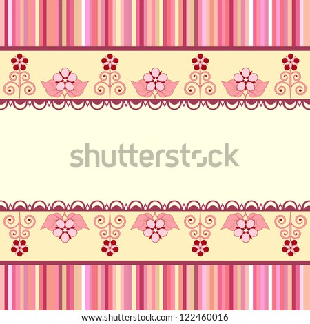 Vintage romantic background. Pink colors. Valentine day - stock photo