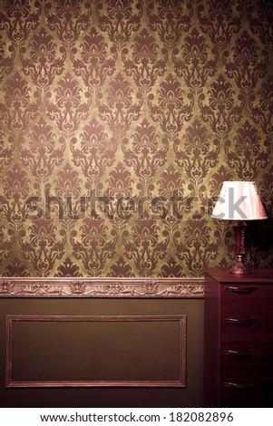 Vintage room interior toned image studio shooting - stock photo
