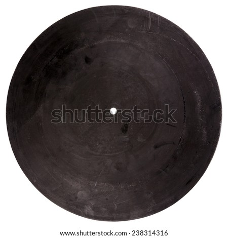 Vintage rubber turntable platter mat back isolated on white background - stock photo