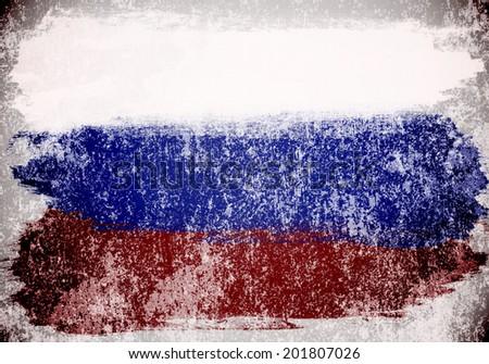 Vintage Russia Flag - stock photo