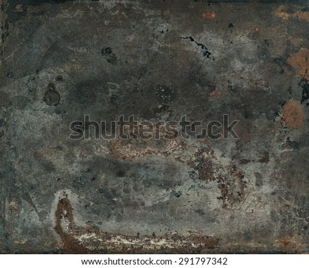 Vintage rusty textured metal background. Retro style toned picture - stock photo