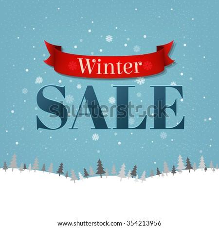 Vintage Sale Poster  - stock photo