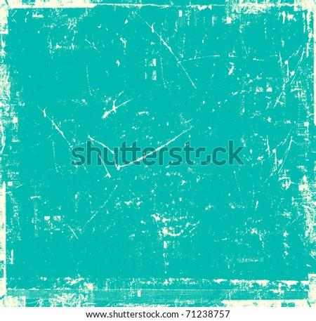Vintage scratch emerald background - stock photo