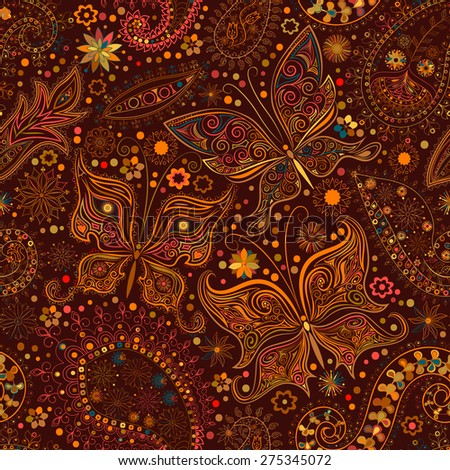 stock images similar to id 108279185 floral paisley indian vector. Black Bedroom Furniture Sets. Home Design Ideas