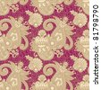 vintage seamless pattern - stock photo