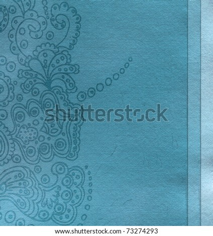 Vintage shabby background with classic ornament - stock photo