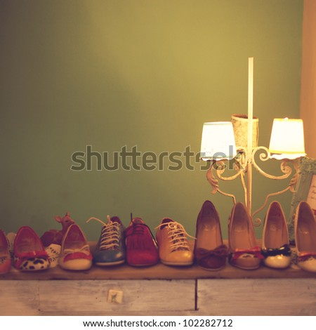 Vintage Shoes - stock photo