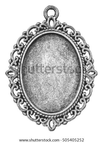 Vintage Silver Cabochon Setting Oval Frame Stock Photo (Edit Now ...