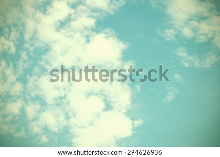 Vintage sky and cloud with copy space. - stock photo