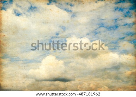 Vintage sky and clouds