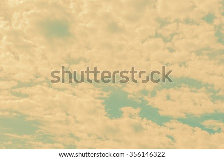 Vintage sky and clouds background.