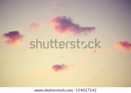 Vintage sky background with summer color tone  - stock photo