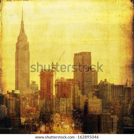 Vintage skyline - stock photo