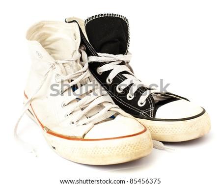 vintage sneaker - stock photo