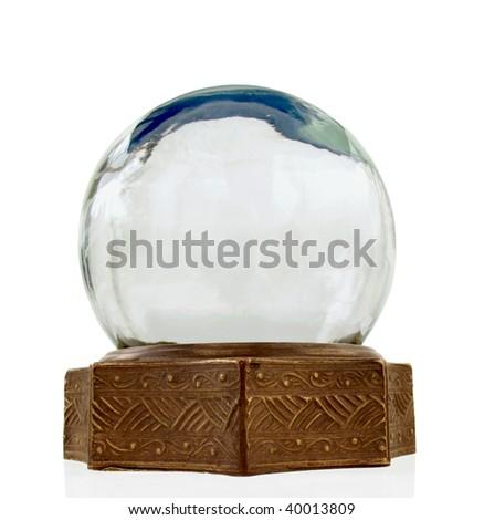 Vintage snow globe - stock photo