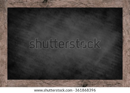 vintage space chalk board background texture with old vintage wooden frame for food/drink cafe menu, space blackboard for backgrounds,food and drink conceptual.horizontal landscpae display frame style - stock photo