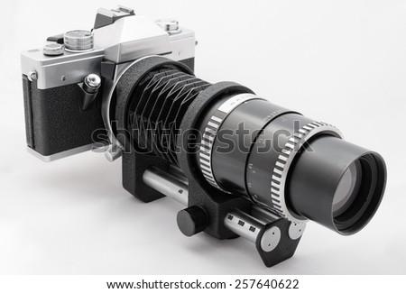 Vintage special macro photo camera - stock photo