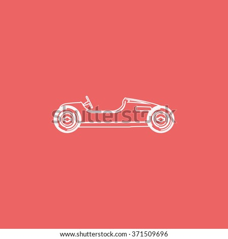 Vintage sport racing car. - stock photo