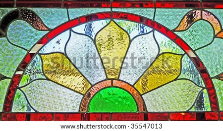 Vintage stained glass - stock photo