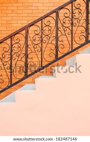 vintage staircase - stock photo