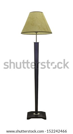 vintage stand lamp isolated on white background with clipping path - stock photo