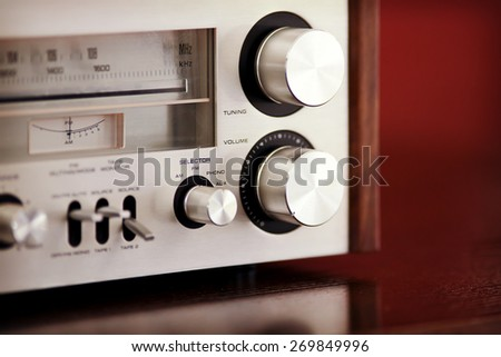 Vintage Stereo Radio Receiver  - stock photo