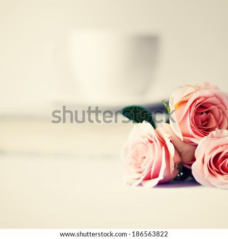Vintage Still Life with Roses - stock photo