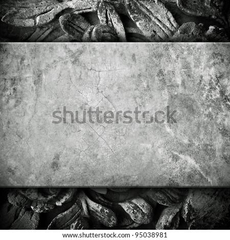 vintage stone - stock photo