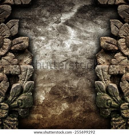 vintage stone background - stock photo