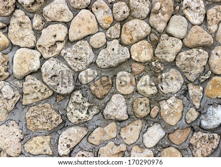 vintage stone wall background horizontal - stock photo