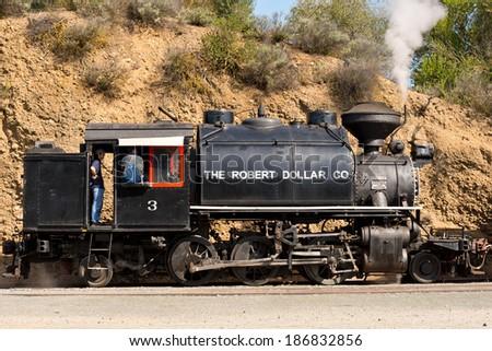 Vintage Stream Train - stock photo