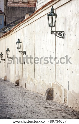 vintage street lamps, Prague, Czech Republic. See my portfolio for more - stock photo