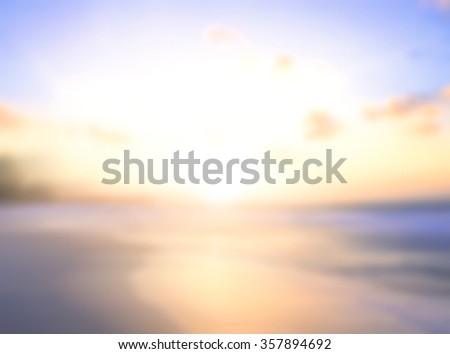 Vintage style abstract blur pattern texture. Sandy Beach Backdrop Turquoise Water Bright Sun Autumn International Mountain Clear Sand Soft 2017 2016 Zen Light Bokeh Glow Wave Sea Surf Sky concept - stock photo