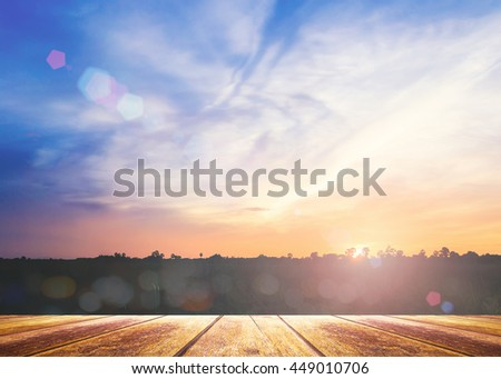 Vintage Style Art Rural Field Grass. Scenic Time Yellow Color Eco Zen Sun Idea Plant Dawn Travel Ray View Cloud Village Peace Calm Haze Card Healthy Bright Sunlight Season Pasture Heaven Valley. - stock photo