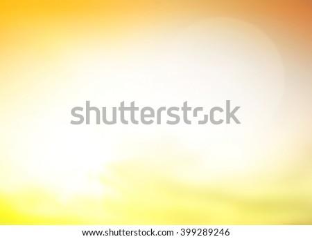 Vintage Style Blur Beach Backdrop Bright Sun 2016 2017 Sand Sea Bokeh Flare Surf Soft Zen Glow Ocean Wave Clear Retro Aqua Relax Shine Light Clean Pastel Fresh Bless Smooth Orange Horizon Air Park Sky - stock photo
