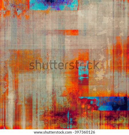 Vintage style designed background, scratched grungy texture with different color patterns: yellow (beige); brown; blue; red (orange); purple (violet) - stock photo