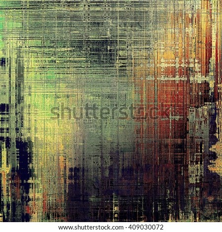 Vintage style designed background, scratched grungy texture with different color patterns: yellow (beige); brown; green; red (orange); gray; black - stock photo
