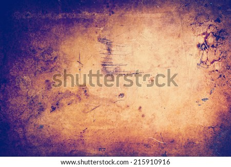 Vintage style grunge background of texture and light with Instagram style filter - stock photo