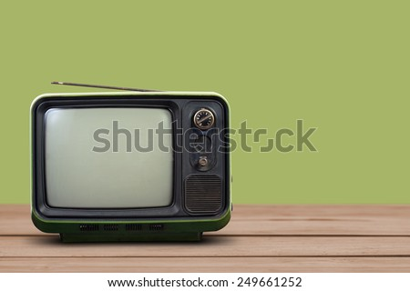 Vintage style old television