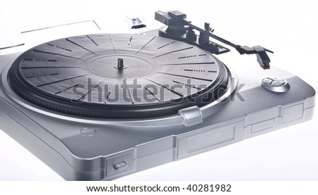 Vintage-style record player or turn table.