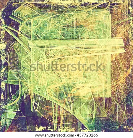 Vintage style shabby texture or background with classy grungy elements and different color patterns: yellow (beige); brown; green; purple (violet); gray; pink - stock photo