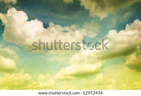 Vintage styled Cloudy Sky - stock photo