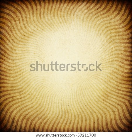 Vintage sunburst brown background. With space for text or image. - stock photo