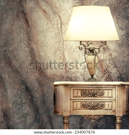 Vintage table lamp  - stock photo