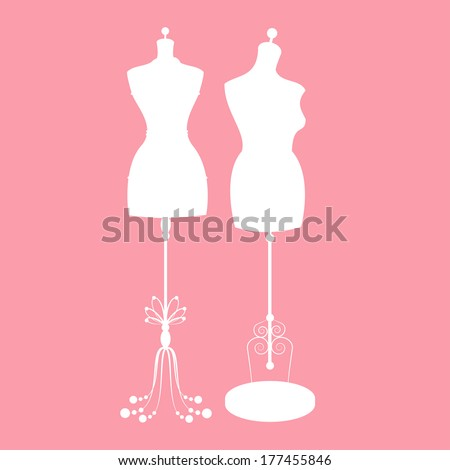 vintage tailor's mannequin for female body. raster version