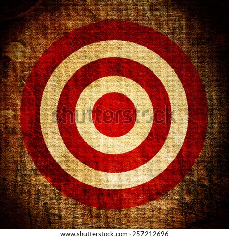 vintage target painted on the dirty old tissue - stock photo