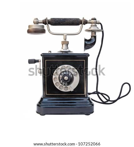Vintage telephone - stock photo