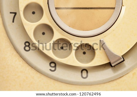 Vintage telephone - stock photo