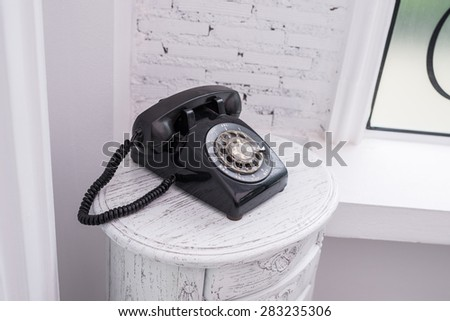 Vintage telephone for decoration - stock photo