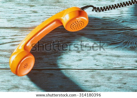 Vintage telephone handset - stock photo